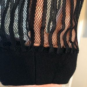 City Chic Sweaters - City Chic Lace Noir Sweater - Black